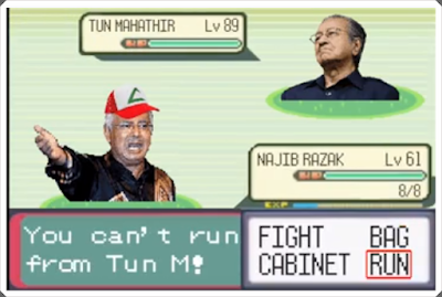 Image result for mahathir vs najib pokemon troll