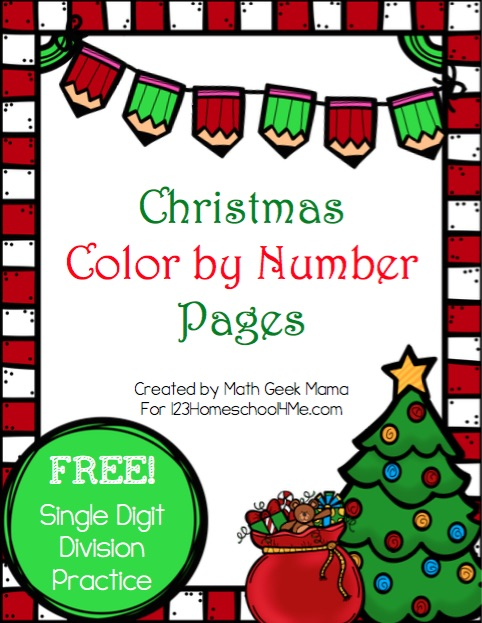 Christmas Color by Number: Division
