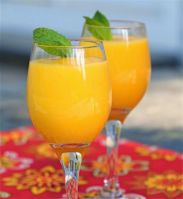 delicious and tasty mango lassi with yogurt indian recipies