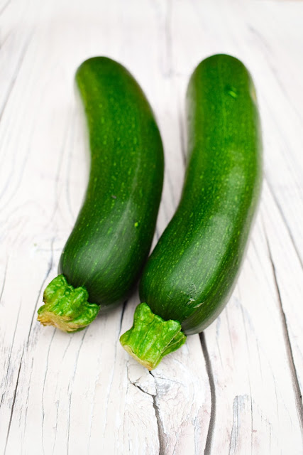 two courgettes