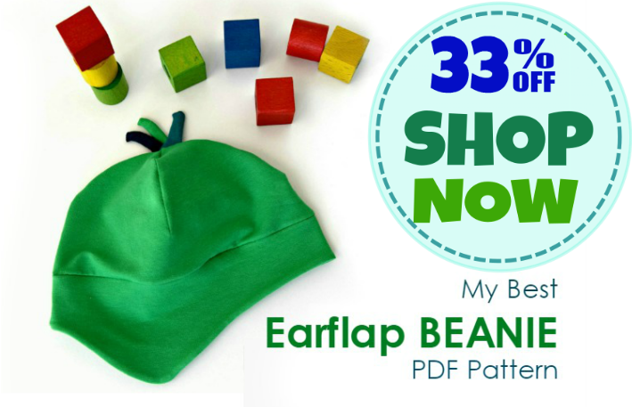 My Best Earflap Beanie - 8 Sizes. Get your PDF pattern on Craftsy.