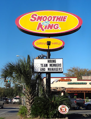 Smoothie King Hiring Team Members & Managers (sign)