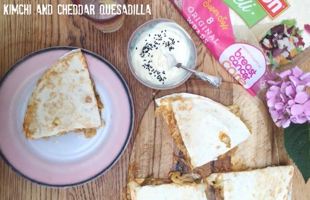 Kimchi and Cheddar Quesadilla Recipe