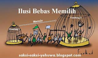 anggota kultus saksi yehuwa hidup dalam ilusi kontrol bebas memilih dan menentukan sendiri
