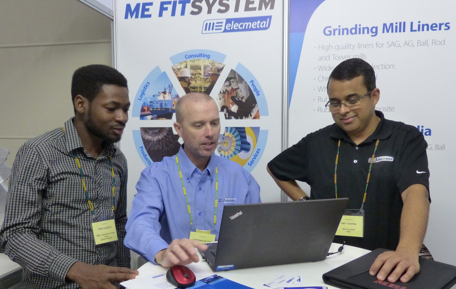 Mei Blog Comminution 18 Conference Diary Digital Control Lab Ag Sag Ball Mill Optimization And Process Temitope Oladele With Stephan De Vos Amit Saxena Of Me Elecmetal An American Company Exhibiting For The First Time At