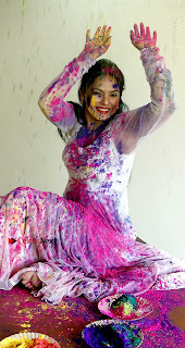 Bollywood Actress and Producer Neetu Chandra Special Po Shoot Gallery in a Dry Holi Celetion  0012.JPG