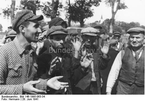 Soviet prisoners accused of being spies 28 June 1941 worldwartwo.filminspector.com