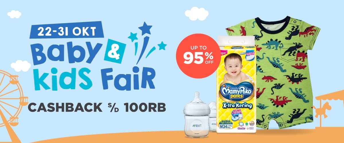 Shopee - Promo Cashback s.d 100 Ribu Baby & Kids Fair + Diskon s.d 95%