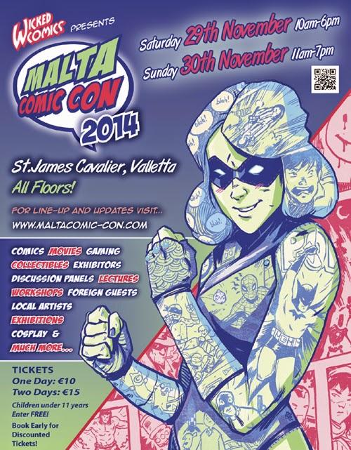 Malta Comic Con 2014 Poster