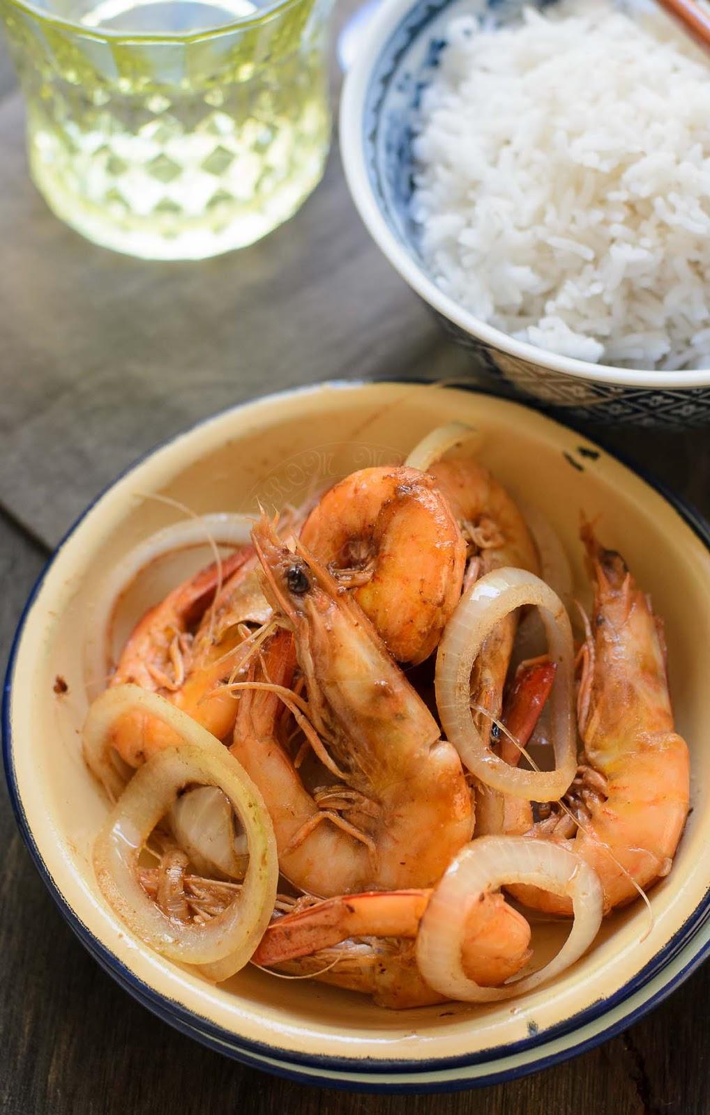 Easy tamarind prawns dish