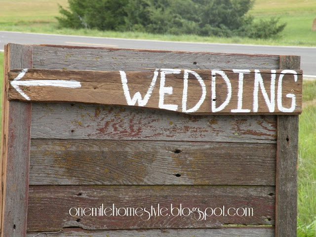 Barn board wedding sign
