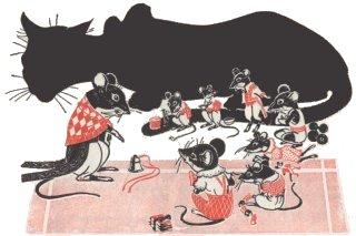 Los Ratones poniendo el Cascabel al Gato