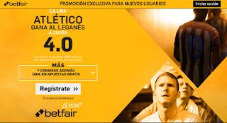 betfair supercuota 4 Atletico gana Leganes Liga 27 agosto