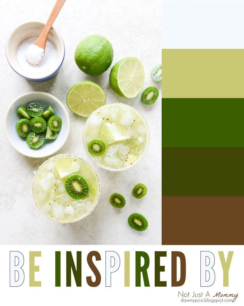 Be party palette inspired by kiwi margaritas!