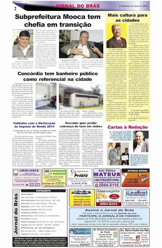 Destaques da Ed. 246 - Jornal do Brás