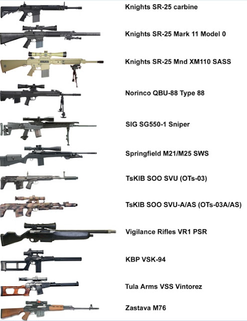 Common Modern Sniper Rifles