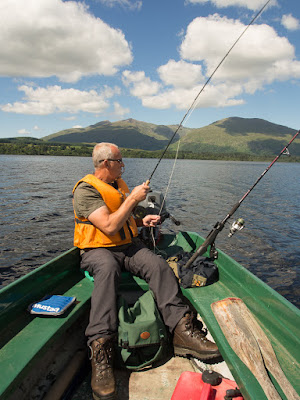 Photo of Phil fly fishing on Loch Awe