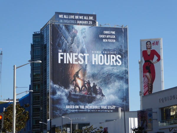 Finest Hours giant movie billboard