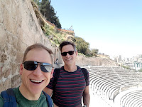 Ann Arbor Personal trainer Mark Thiesmeyer with his husband, Matt Hook, during one of their many vacations abroad. Mark is the founder and owner of Ann Arbor's Better Living Fitness Center.