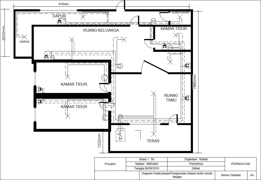 Elektronika polman babel contoh skema instalasi listrik rumah tangga diagram pengawatan ccuart Images