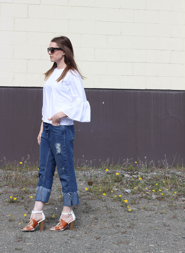 Feminine tops and boyfriend jeans -Asos