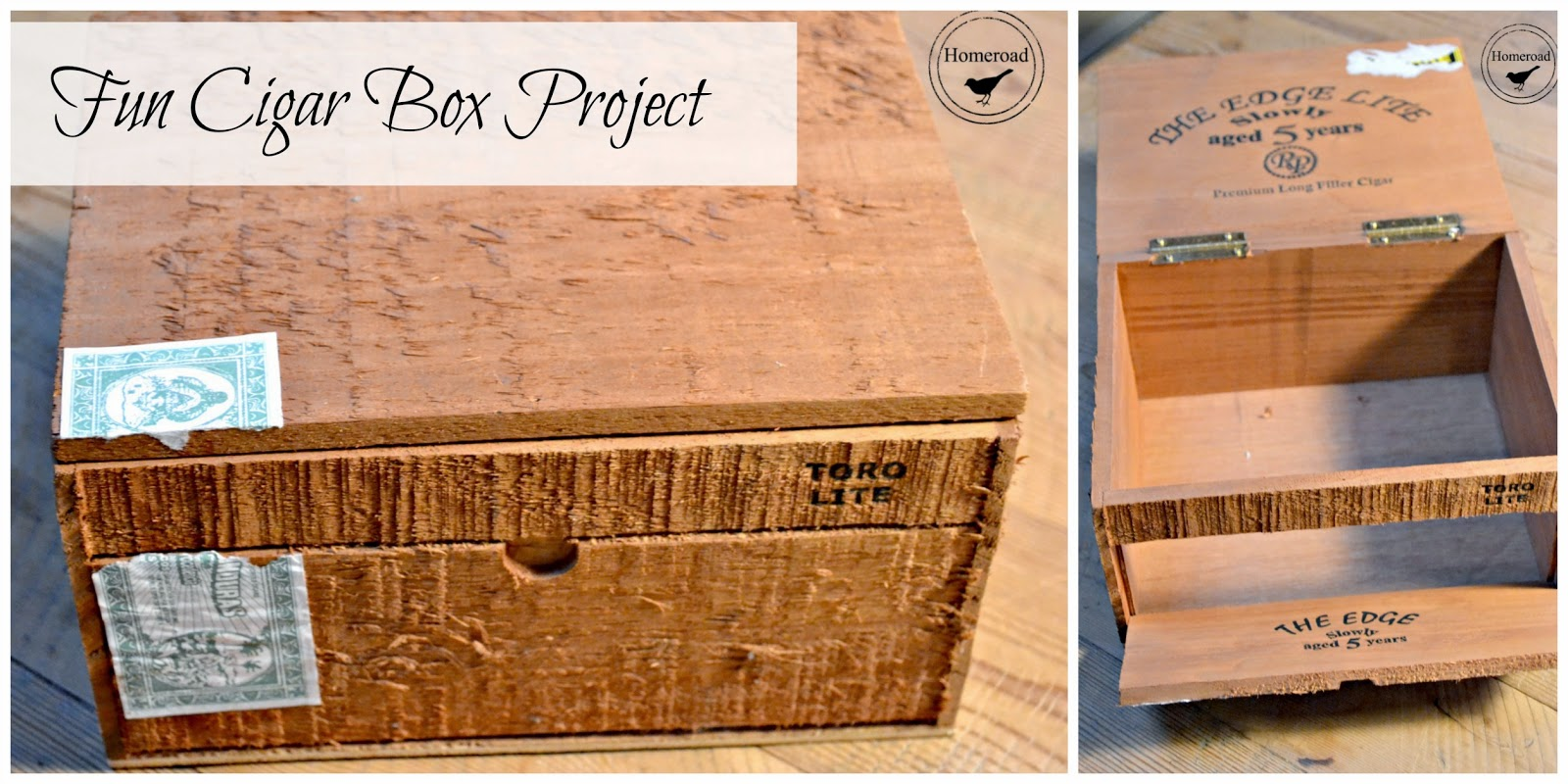 Cigar Box Craft Storage