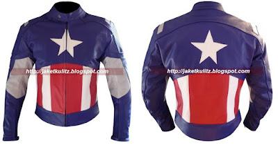 Gambar Jaket Kulit Captain America First Avengers