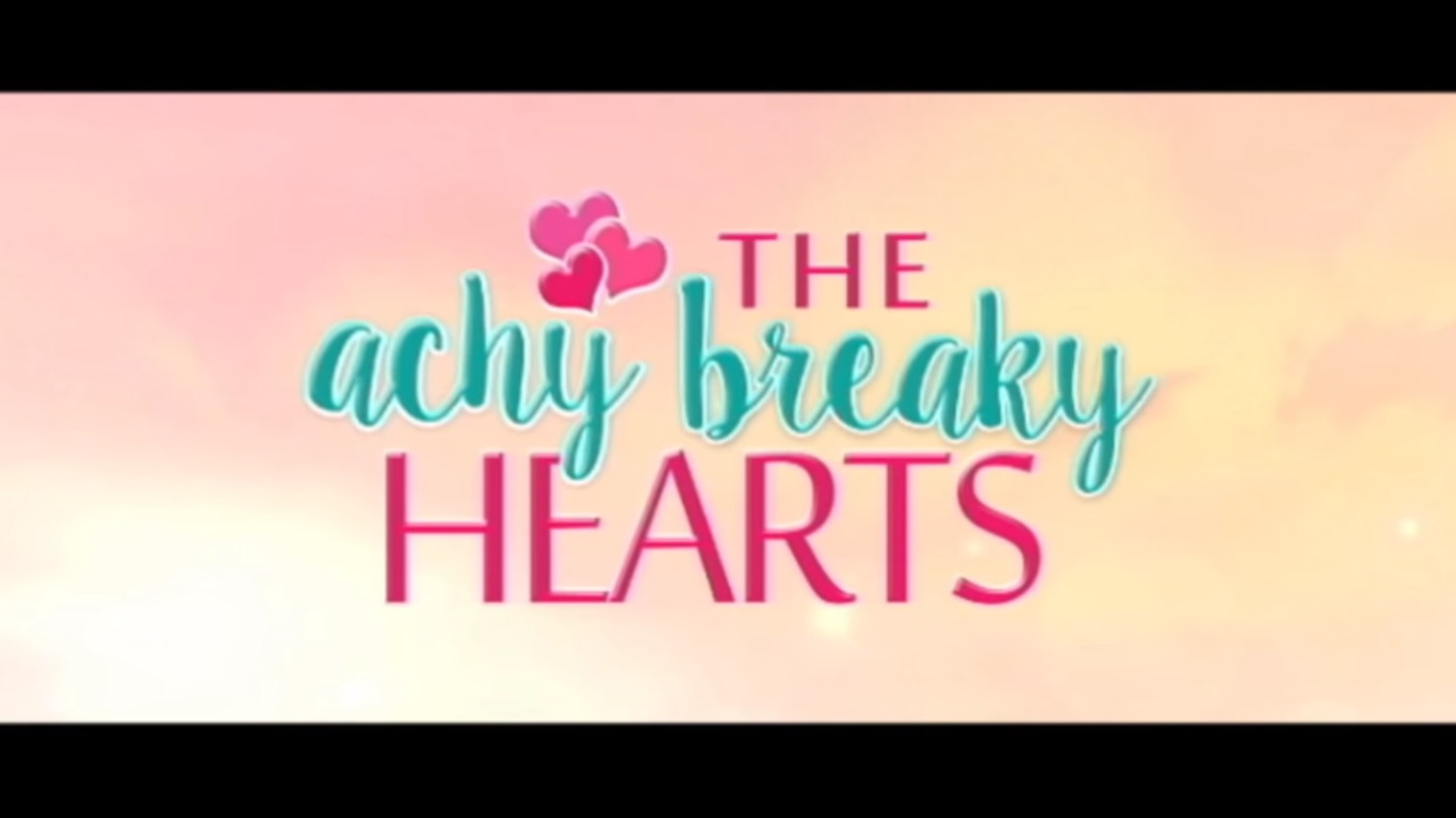 The Achy Breaky Hearts 2016 movie title card Star Cinema romantic comedy directed by Antoinette Jadaone starring Jodi Sta. Maria, Richard Yap, and Ian Veneracion showing on June 29, 2016