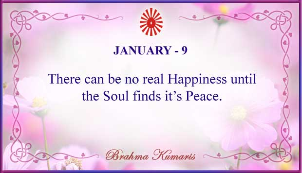 Thought For The Day January 9