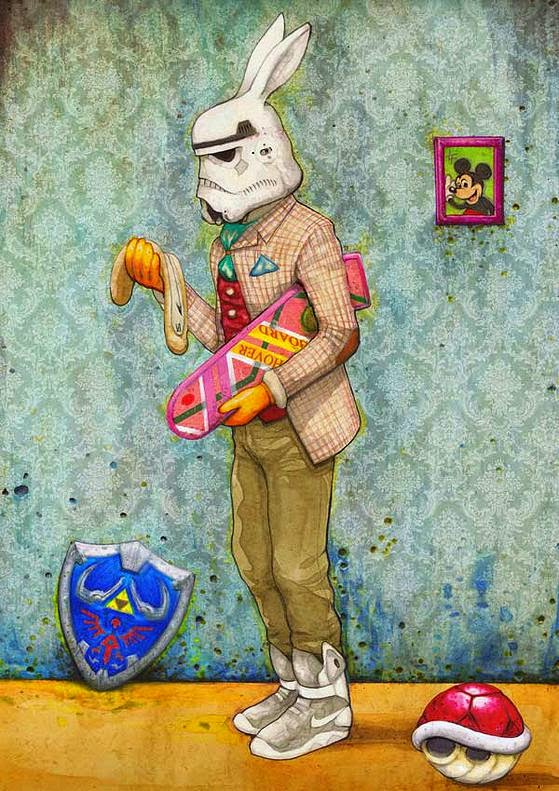 06-Stormtrooper-Luke-Tobias-Surreal-Drawings-from-Popular-Culture-www-designstack-co