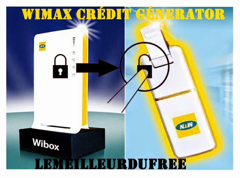 DU nouveau WIMAX CREDIT GENERATOR