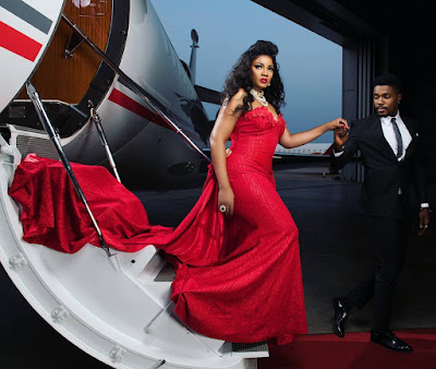 Nollywood Actress Omotola dazzles in Red Ahead Of Her 40th Birthday Celebration