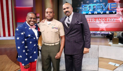 Steve Harvey celebrated vets on his show.