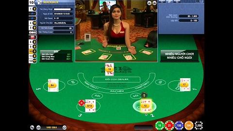 Một bàn chơi Blackjack