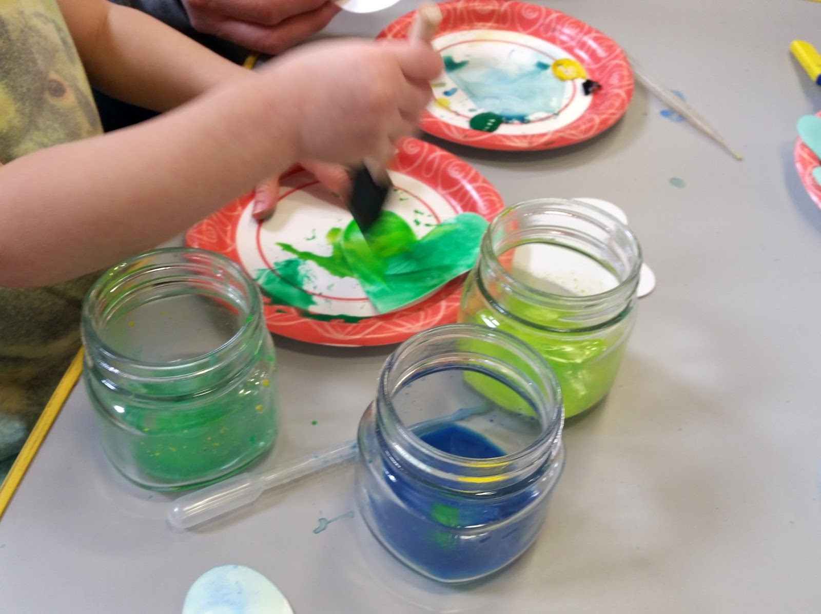 Heart Shamrocks with Mixed Paint   Choices for Children