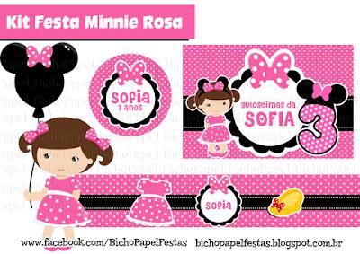 Kit Festa Minnie Rosa
