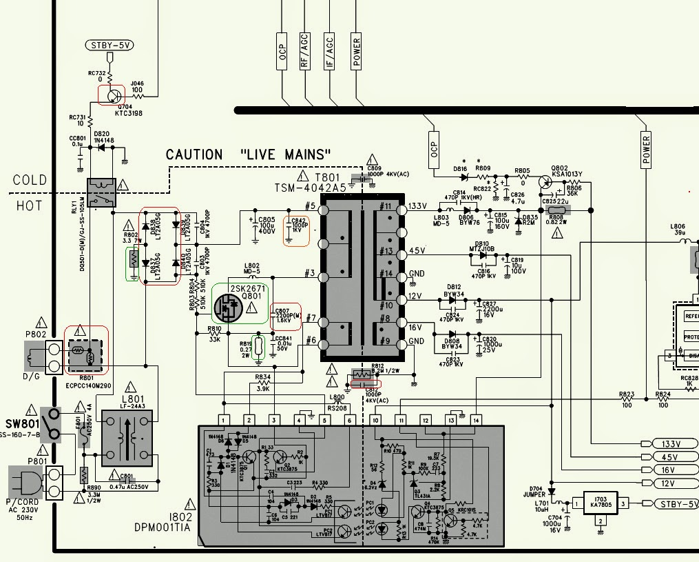 crt tv circuit board diagram circuit diagram images