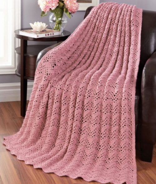 Lacy Bands Blanket - Free Pattern