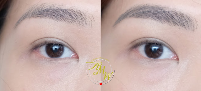 before and after photo of Full Brow Powder Finish Brow Crayon Review by Nikki Tiu of www.askmewhats.com