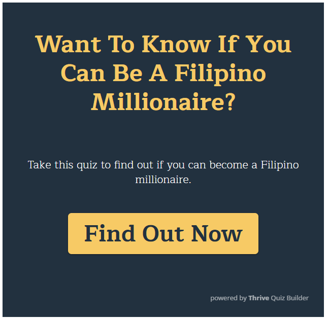 Can you be a Filipino Millionaire?