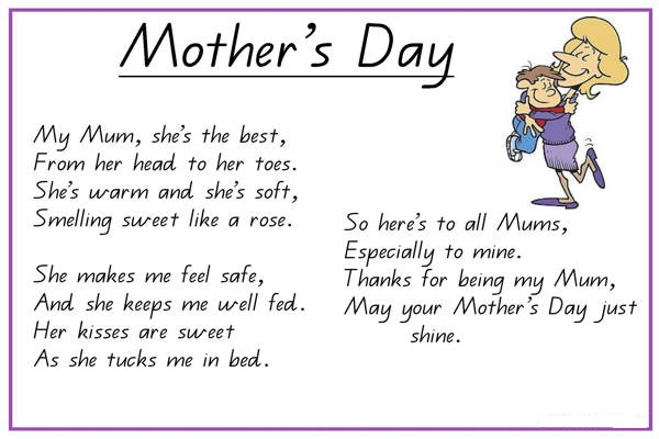 Rhyming Mom Poems 70