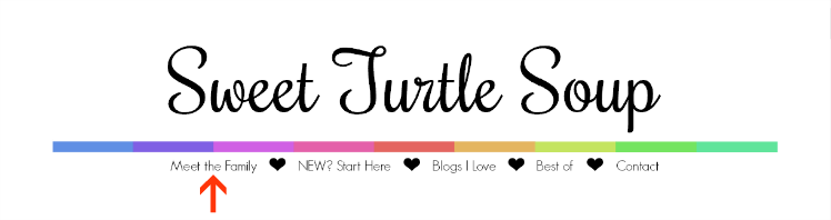Sweet Turtle Soup header tabs
