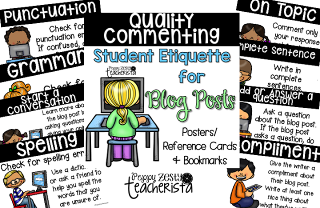 Student Blog Post Commenting Etiquette [Kidblog]