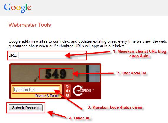 Google Submit URL