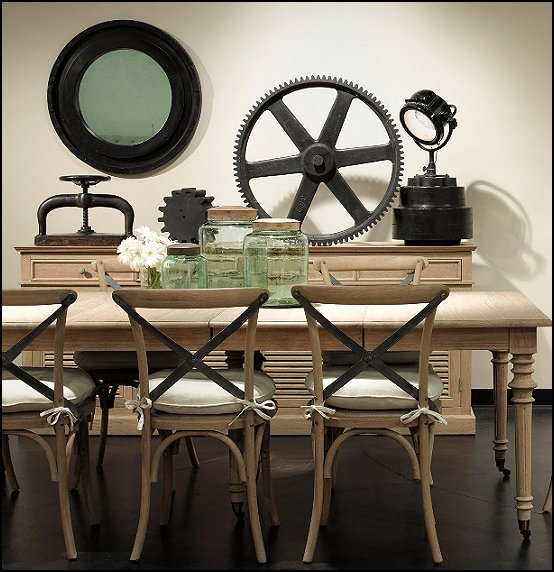 Decorating theme bedrooms maries manor industrial style for Dining room decor accessories