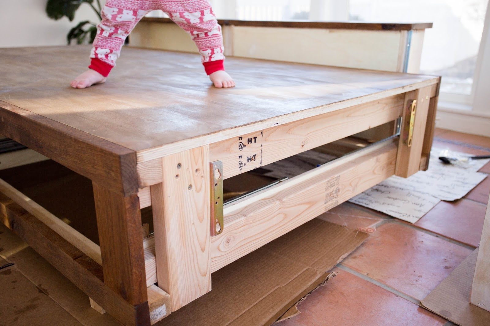 Epic Headboard footboard drawers with soft close slides no pinched fingers