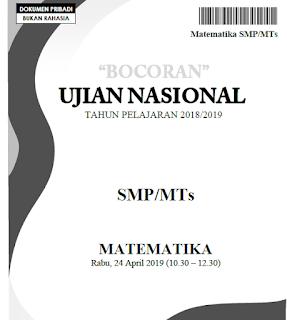 Soal UN Matematika SMP PDF