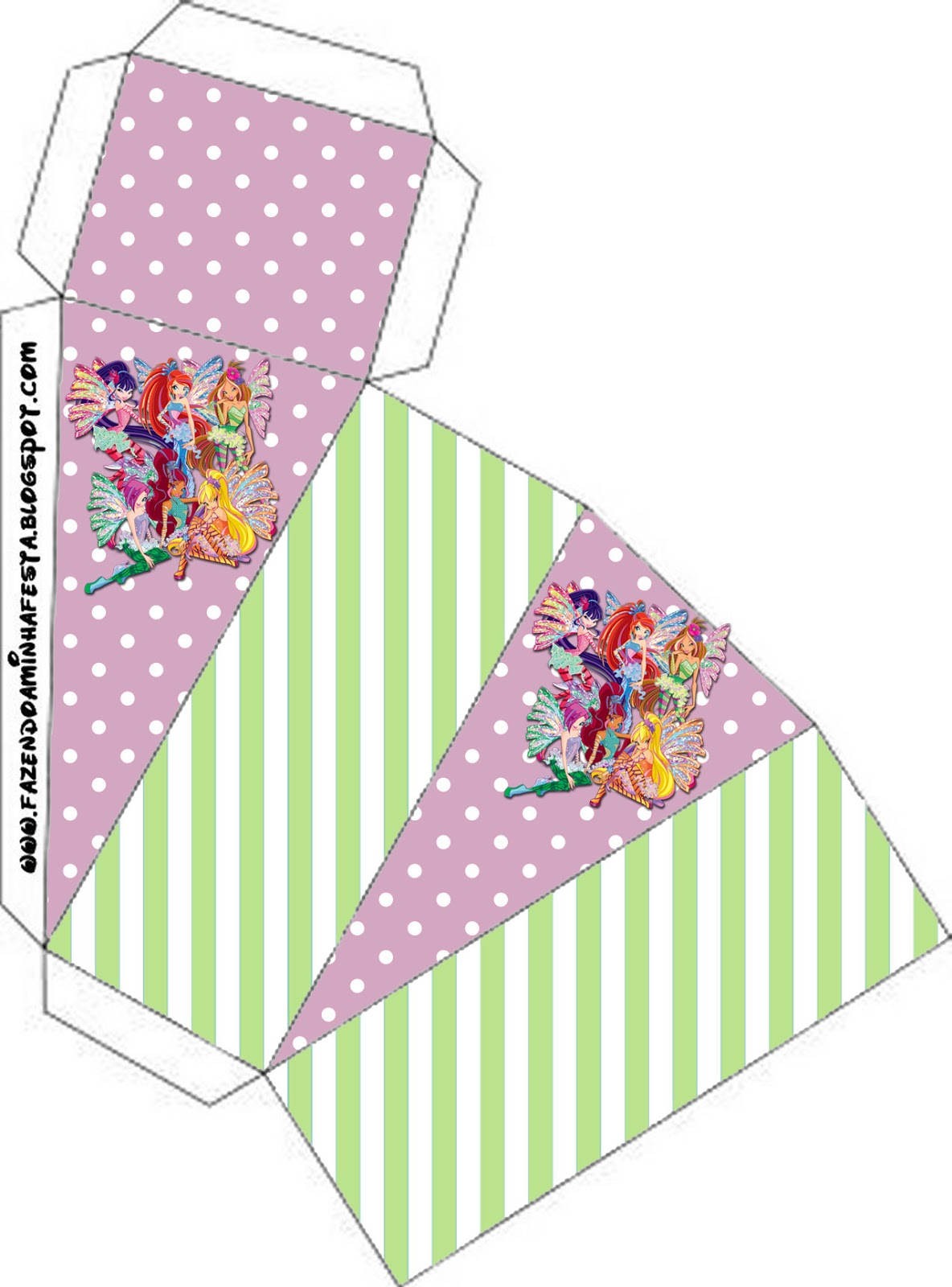 Winx Party Favor Boxes Free Printables Oh My Fiesta