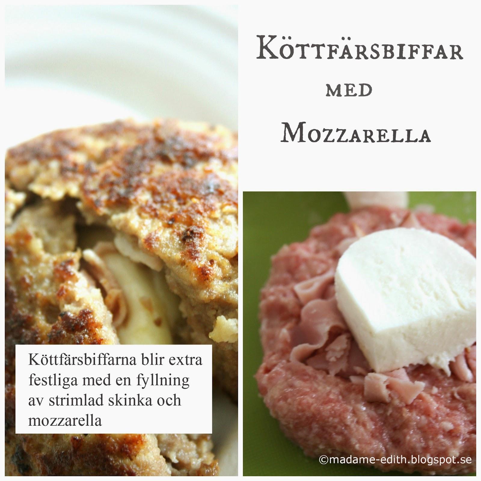 köttfärsbiffar med ost och skinka