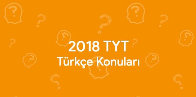tyt türkçe konuları nelerdir
